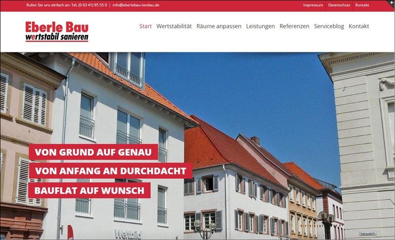 Homepage Eberle Bau