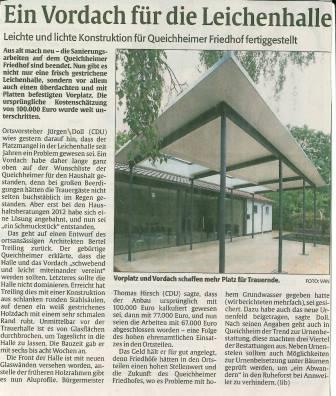 Vorplatz für Queichheimer Friedhof
